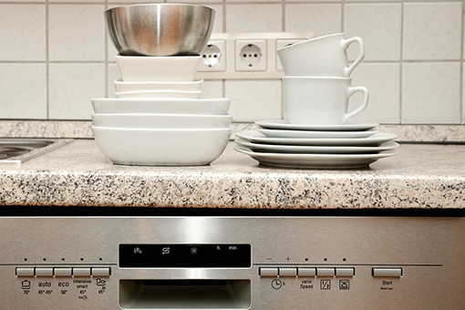 Image of a countertop with dishes