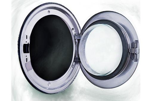 Image of an open washing machine door