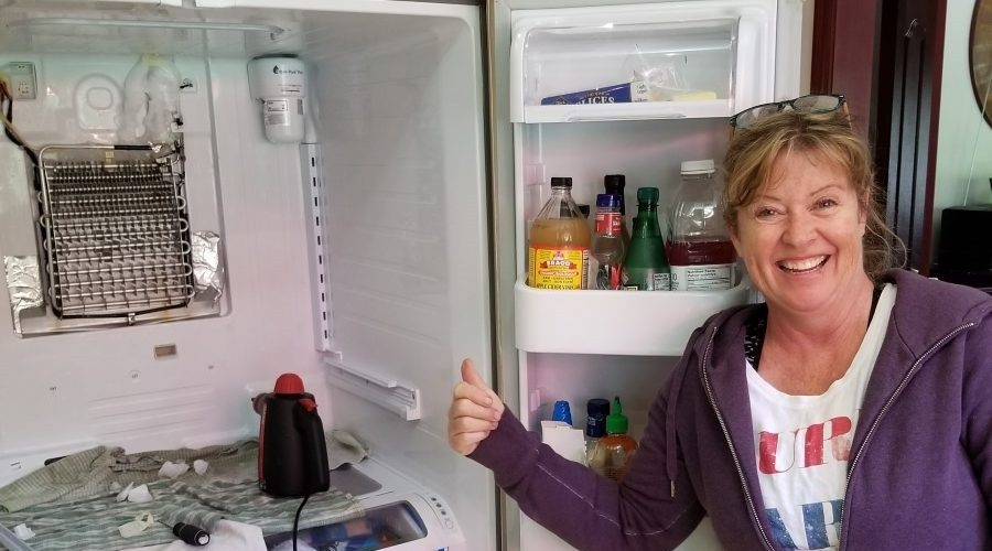 one of our happy clients after fridge repair